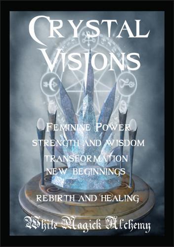 Crystal Visions Ritual Spell Jar Vigil Candle . Change, New Beginnings