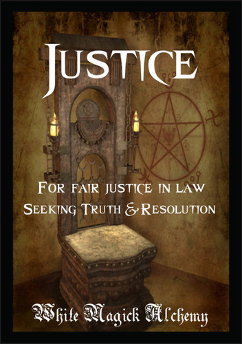 Justice Ritual Spell Jar Vigil Candle . Revealing Truth, Legal Matters