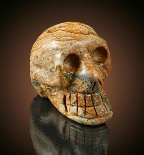 Picture Jasper Gemstone Skull