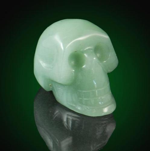 Aventurine Gemstone Skull