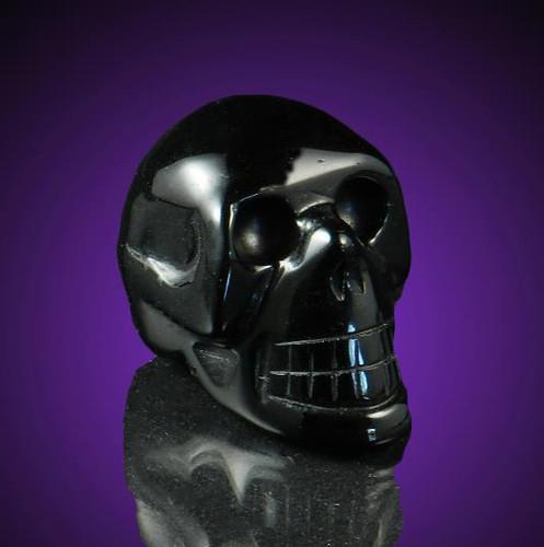 Black Obsidian Gemstone Skull