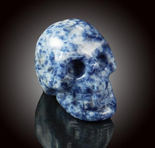 Sodalite Gemstone Skull