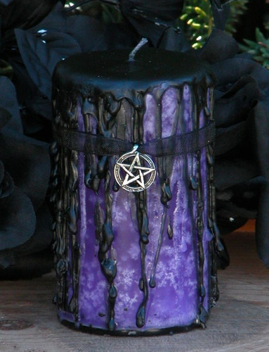 Queen of the Witches . Hekate Magick Candle Pillar . Spirit Workings, Psychic Awareness, Divination, Transformation, Personal Growth