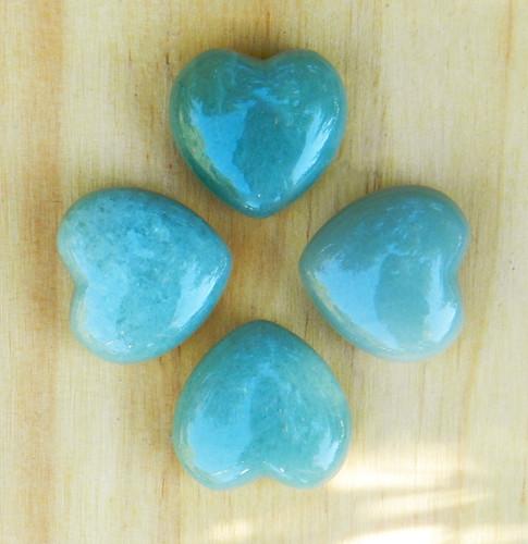 Aventurine Gemstone Heart . For Luck, Money, Healing