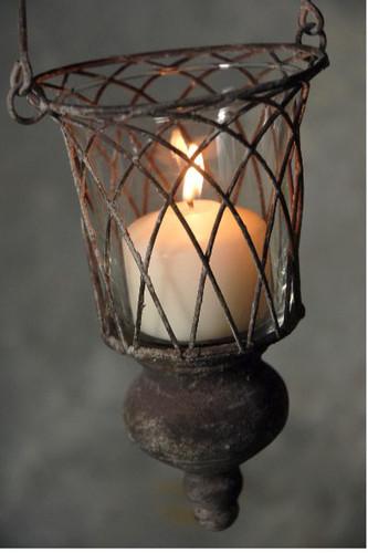 Saxon Metal Hanging Candle Lantern