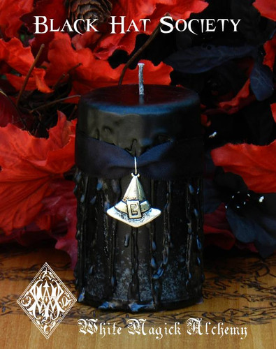 Black Hat Society Witches Candles  for Witches Gatherings