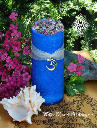 OM Peaceful Mediation Crystal Candles