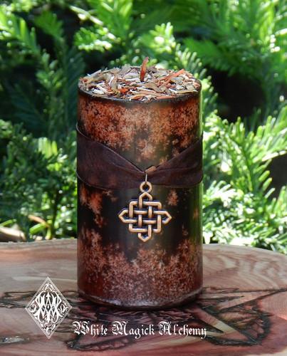 Nine Sacred Woods Celtic Wiccan Candle