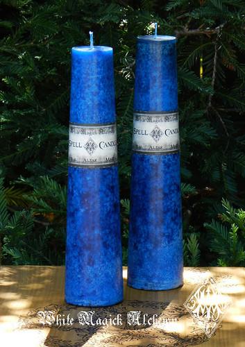 Blue Altar Spell Candles