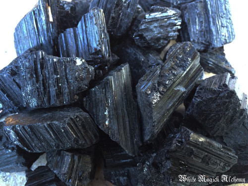 Black Tourmaline Natural Raw Gemstones from Madagascar