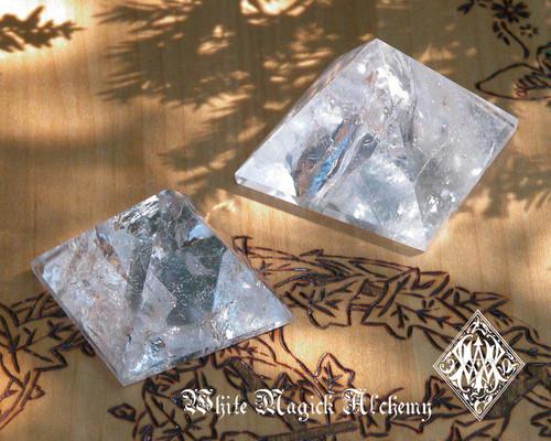 *Crystal Quartz Pyramids