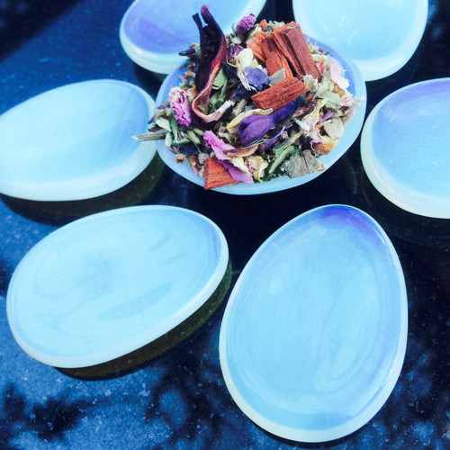 Opalite Palm Stones for Meditation, Peace & Blessings