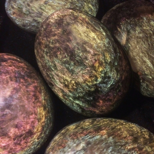 Velvet Obsidian Palm Stones for Meditation, Stress, Calming, Protection