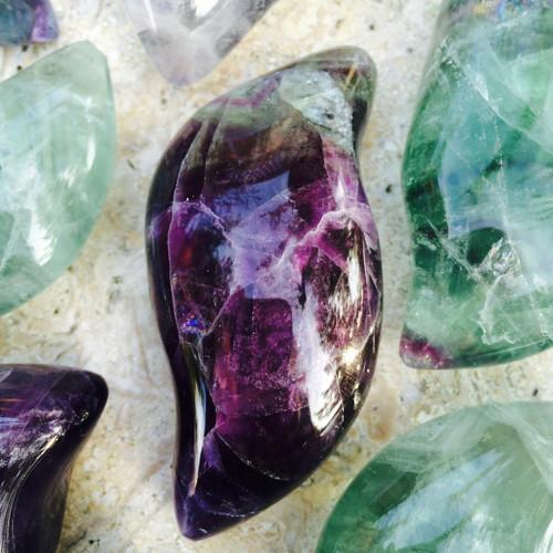 Fluorite Gemstone Freeforms Jumbo Huge Gorgeous Piece