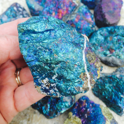 Chalcopyrite Peacock Ore Huge Pieces for Intuition, Positive Energy Flows, Dissolves Negativity