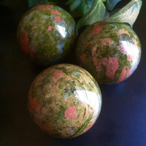 Unakite Spheres for Healing , Compassion & Weight Loss