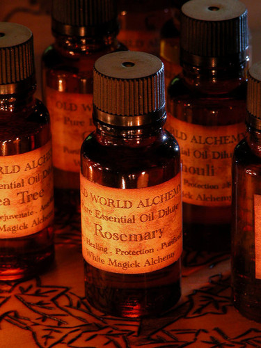 Rosemary Essential Oil . White Magick Alchemy Pure Essential Dilute . Healing, Love, Protection, Purification, Blessings