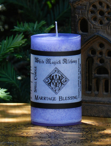 MARRIAGE BLESSING  Spell Candle . Marriage and Unity Candle, Handfastings, Offering and Gift
