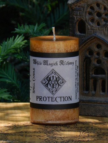 PROTECTION Spell Candle . Protect Against Negative Energies, Spirits, People, Use when Protection is Needed