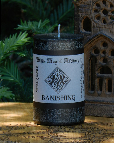 BANISHING Spell Candle . Banish That Which No Longer Serves