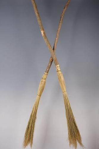 Cobweb Broom ~ Small Ritual Besom ~ Natural