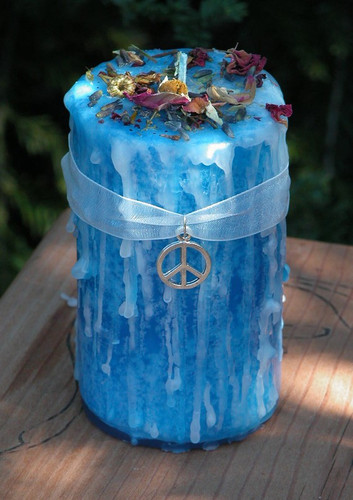 Peaceful Home . Herbal Alchemy Magick Candle For Clear Negative Energies within you Sacred Space, Balance, Renewal, New Beginnings