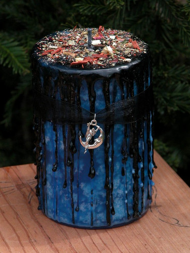 Night Magick . Herbal Alchemy Candle with Amber, Lavender, Vanilla, Sandalwood . Night Divine Lunar Magick, Witching Hour, Peace, Balance