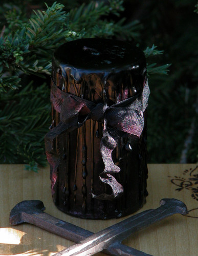 Dark Shadows ~ Witches Magick Candle With Gothic Dark Amber, Vetiver, Ylang, Patchouli, Cedar Coffee, Musk, Vanilla