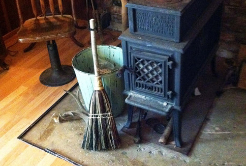 Hearth Broom ~ Mixed Colored ~ Old World Style All Organic Broom