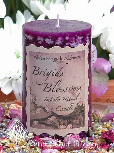 Brigids Blossoms Imbolc Candles for Flourishing Abundance, Renewal, Fertility, Purity and Illumination