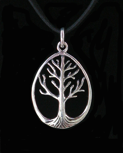 Ancient Tree of Life Pendant in Sterling Silver . A Symbol of Life and Knowledge