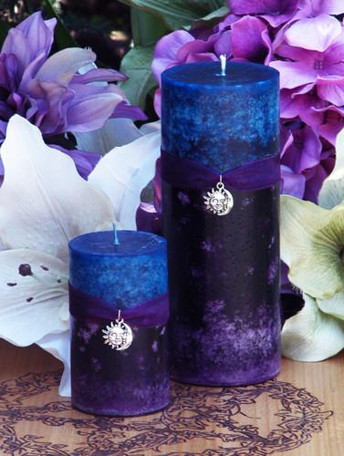 Twilight Sunset Candles . Summer Evening Illumination, Love. With Exotic Dark Sandalwood, Vetiver, Bergamot, Lime, Black Lily, Camillia