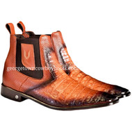 Men's Vestigium Genuine Caiman Belly Chelsea Boots Handcrafted