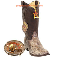 Men's Los Altos Python Snip Toe Boots Genuine Snakeskin Handcrafted 945785