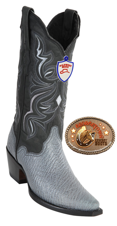 Gray Cowgirl Shark Boots 2349309