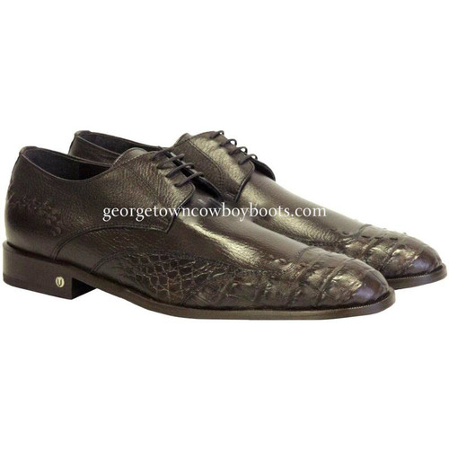 Men's Vestigium Genuine Caiman Belly Derby Shoes Handcrafted 7zv038207