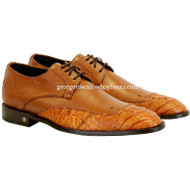 Men's Vestigium Genuine Caiman Belly Derby Shoes Handcrafted  7zv038203