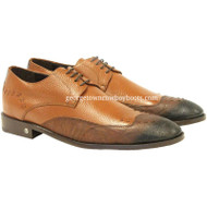 Men's Vestigium Genuine Catshark Derby Shoes Handcrafted 7ZV018503F