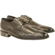 Men's Vestigium Genuine Ostrich Derby Shoes Handcrafted 7ZV030307F