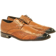 Men's Vestigium Genuine Ostrich Derby Shoes Handcrafted 7ZV030303F