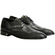 Men's Vestigium Genuine Ostrich Leg Derby Shoes Handcrafted 7ZV030505