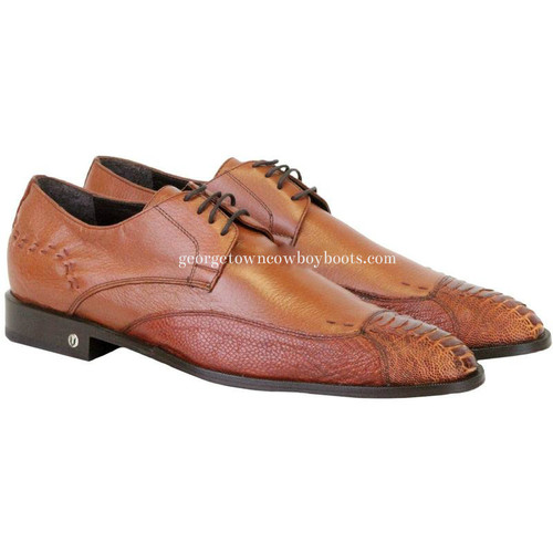 Men's Vestigium Genuine Ostrich Leg Derby Shoes Handcrafted