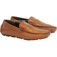 Men's Vestigium Genuine Ostrich Leg Loafers Handcrafted 7ZC030503