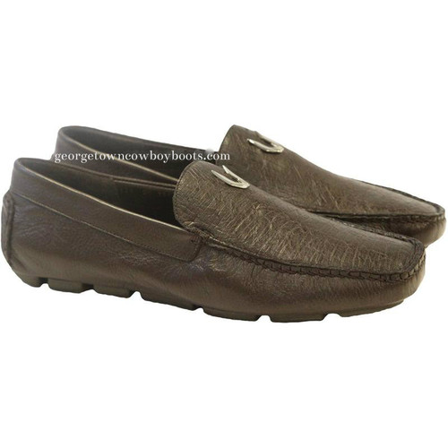Men's Vestigium Genuine Ostrich Loafers Handcrafted 7ZC030307
