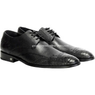 Men's Vestigium Genuine Python Snakeskin Derby Shoes Handcrafted 7ZV035705