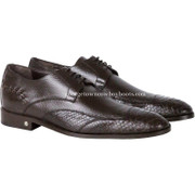 Men's Vestigium Genuine Python Snakeskin Derby Shoes Handcrafted 7ZV035707