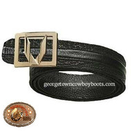 Vestigium Sharkskin Belt with Interchangeable Gold & Silver Buckle 7C159305
