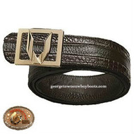 Vestigium Caiman Belt With Interchangeable Gold & Silver Buckles 7C158207