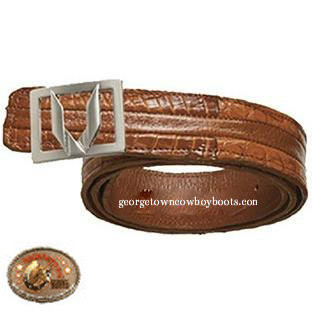Vestigium Caiman Belt With Interchangeable Gold & Silver Buckles 7C158203