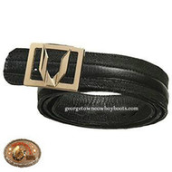 Vestigium Catshark Belt W Interchangeable Gold & Silver Buckle 7C15805